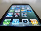 Close-up of iPhone 4G smart phone