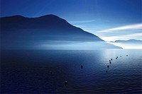 morning haze over the Lake Maggiore