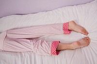 Preteen girl´s legs and feet