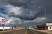 Main avenue through Tucumcari in New Mexico