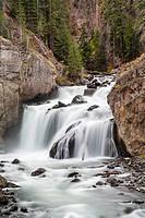 Firehole Falls, Yellowstone National Park, Wyoming, United States