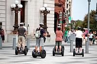 Tourists on electric skates visiting the city, Washington D.C, United States