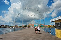 Willemstad floating pedestrian bridge, Curaçao, Netherlands