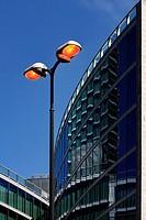 Street lamp and Palazzo della regione - Milan, Italy