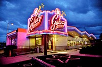 Galaxy Diner, Original site of Bub´s 1950s Diner, Historic Route 66, Flagstaff, Arizona, United States.