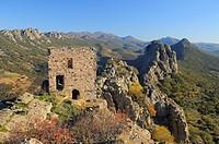 Cabañas castle. Cabañas del Castillo. Villuercas. Cáceres province. Extremadura. Spain