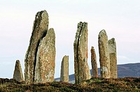 Megalithic standing stones  Part of the Neolithic stone circle The Ring of Brodgar on the Mainland of Orkney, Scotland, UK
