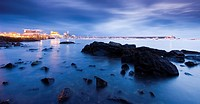 Bay of Castro Urdiales at sunrise, Cantabria, Spain