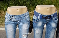 Mannequins Legs With Blue Jeans