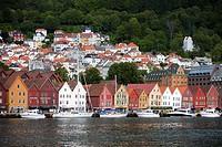 Europe, Norway, Hordaland, Bergen, Bryggen