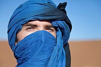 portrait of a man with turban, Erg Chegaga, Sahara, Morocco