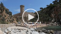 Codolar beach at summer, Tossa de Mar, Costa Brava, Catalonia, Spain, Europe