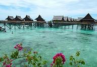the gorgeous Kapalai Water Resort near Sipadan Island, Borneo, Malaysia