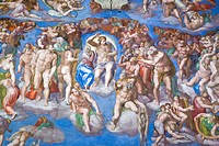 Detail of Michelangelo´s ´Last Judgement´, Rome, Italy