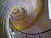 Spiral staircase in the Abbey at Melk, Austria