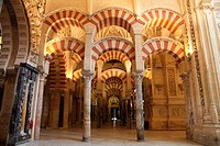 Columns Inside the Mosque of Cordoba, Spain