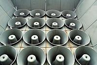 Seoul (South Korea): loudspeakers used during the war against North Korea, at the War Memorial of Korea