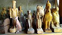 Pharaonic sculptures, Islamic Quarter, Cairo, Egypt