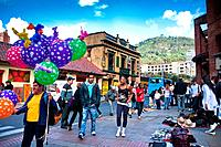 Downtown in Colombia´s capital, Bogota