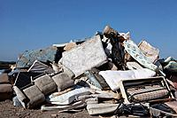 Pile of Old Mattresses in Country Dump  Florida, USA