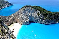 Shipwreck Navagio Beach Zakynthos Greece Ionian Sea Mediterranean Island