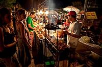 Food Stand at Night Market, Chiang Mai, Thailand