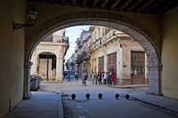 Cuba, Havana  Arco de Belen ´Arch of Belen´, corner of Compostela and Acosta Streets