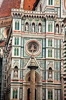 The facade of the Duomo in Florence, Tuscany, Italy