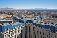 A view of Paris Las Vegas´s hotel tower, from the top of the hotel´s Eiffel Tower replica  Las Vegas, Nevada, United States