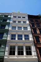 Cast iron buildings in Soho, Manhattan, New York City