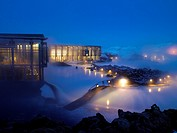 Winter evening at the Blue Lagoon, Iceland