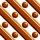 Milk chocolate and vanilla stripes and dots tiling background texture pattern