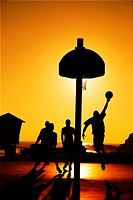 Sunset Basketball, Laguna Beach, California