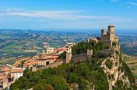 San Marino  Rocca Guaita, Guaita Tower  Monte Titano  Republic of San Marino  Italy  Europe.