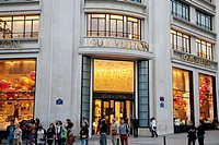 Loius Vuitton Shop on the Champs-Elysees, Paris, France