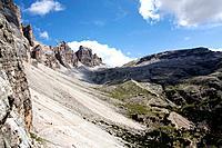 Way to Lagazuoi, Monte de Lagazuoi, Dolomite Alps, Italy, Alta Via Dolomiti