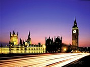 big ben westminster houses of parliament night london england uk night,