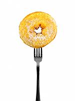 Conceptual diet image with food on a fork