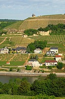 The wine-making municipality of Wormeldange with Luxembourg´s premier wine-growing site Wormeldinger Koeppchen in the Moselle valley, Luxembourg