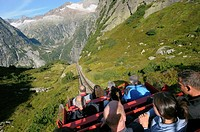Switzerland, Western Europe, Grimsel region, nr  Guttannen, Gelmerbahn funicular  Note: No releases available  --- Info: The Gelmer cable car funicula...