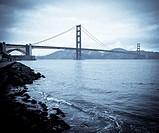 Golden Gate Bridge in San Francisco Bay.