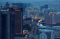 A view of Las Vegas casinos from the top of the Stratosphere Tower  Las Vegas, Nevada, United States