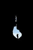 silhouette in the river lobos canyon