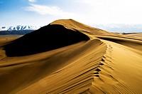 Beautiful sand dune in Gobi desert in China