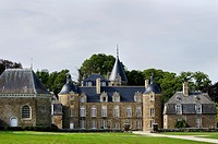 Europe, France,Bretagne,Brittany Region, Pleugueneuc village,Castle Bourbansais