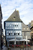 Typical medieval building, Dinan, Côtes d´Armor, Brittany, France