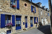 Europe, France,Bretagne Brittany Region, Cancale Village, typical building and street.