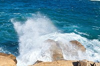 Breaking Wave on Rock, Giglio Island, Italy
