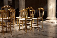 Golden Chairs in Santa Sabina Church, Rome