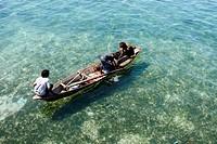 Fisherment on Mabul Island, Mabul, Malaysia, Borneo.